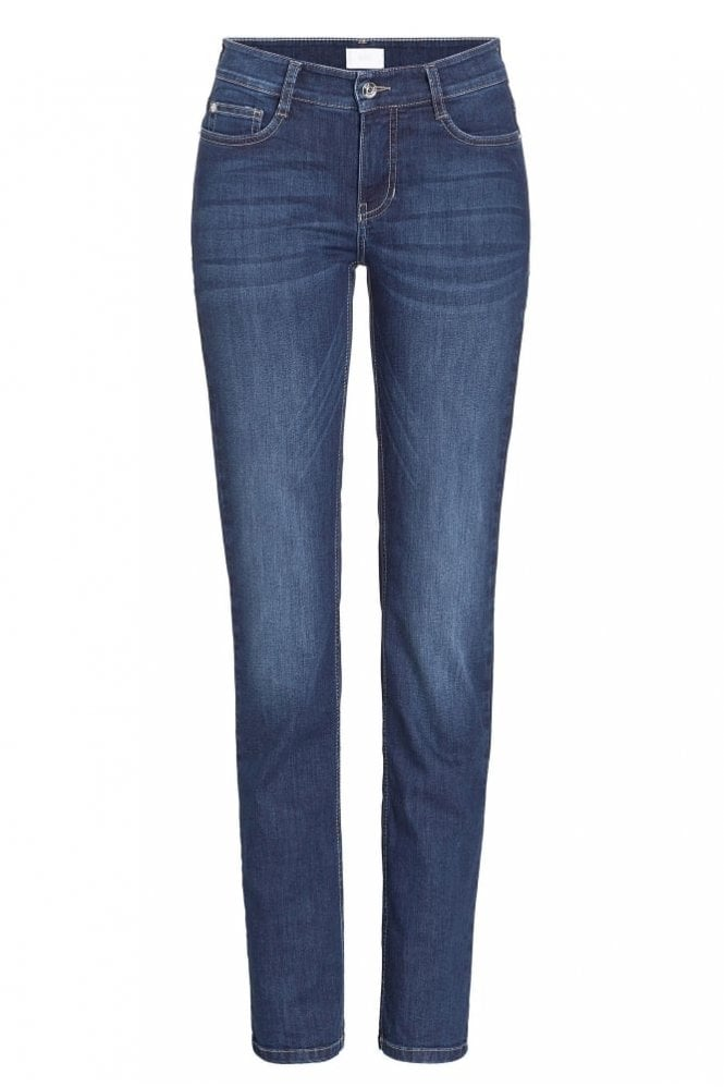 Mac Angela Slim Fit Jeans in New Basic Wash