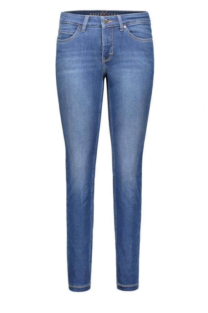 Mac Dream Skinny Jeans in Mid Blue Authentic Wash