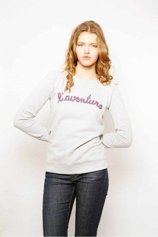 Maison Labiche L'Aventure Sweatshirt in Grey