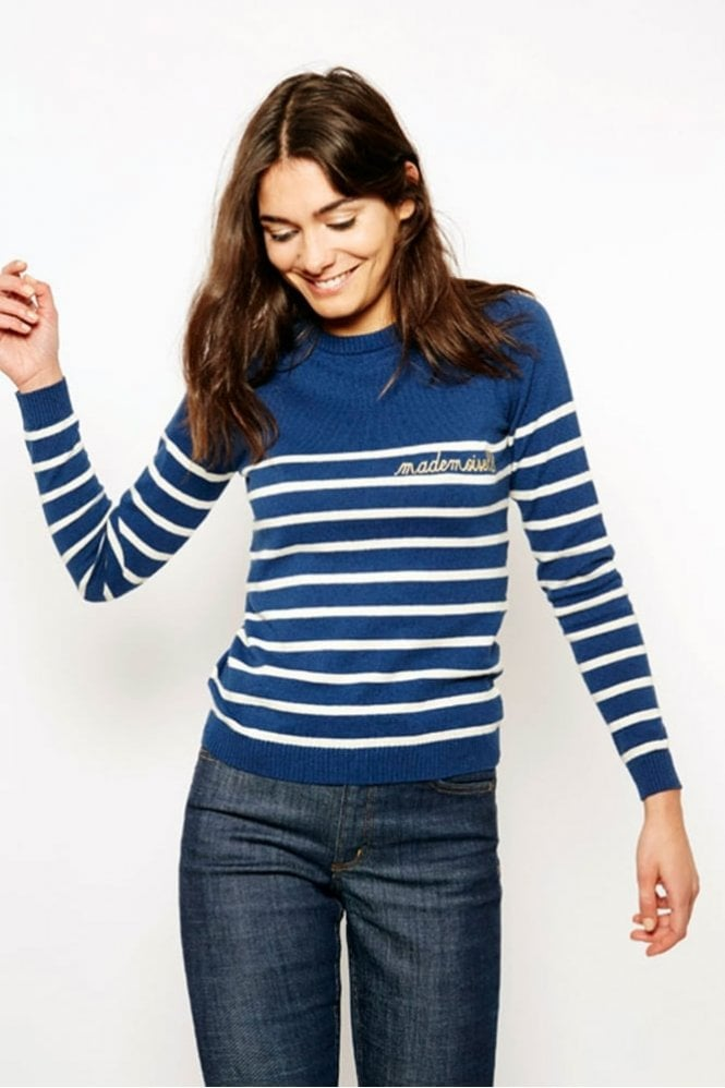 Maison Labiche Mademoiselle Sweater in Blue/Ivory