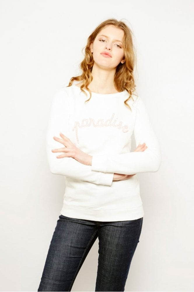Maison Labiche Paradise Sweater in Snow