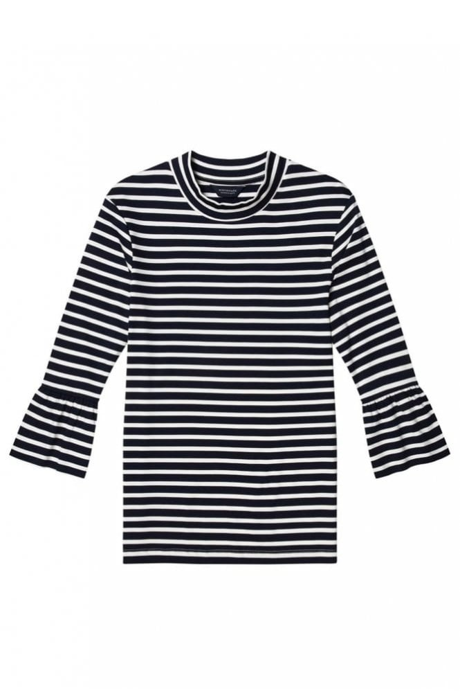 Maison Scotch Bell Sleeve Stripe Top