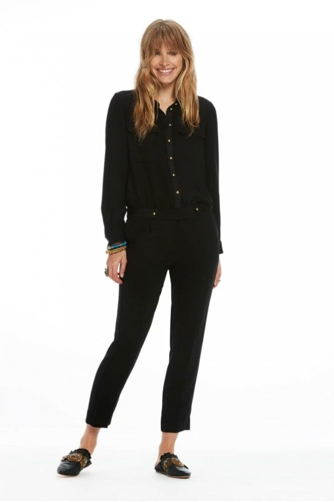 Maison Scotch Captain Jumpsuit in Black