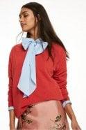 Maison Scotch Cashmere Crew Neck Pullover in Crimson Melange