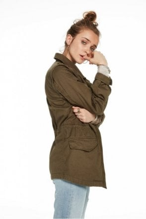 Detachable Sleeve Army Jacket