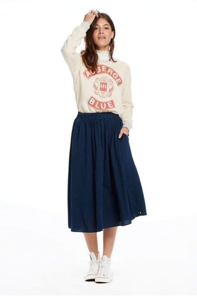 Draped Indigo Skirt