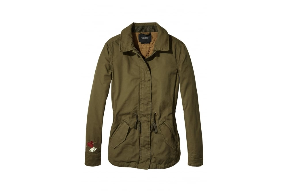 maison scotch embroidered army jacket at sue parkinson. Black Bedroom Furniture Sets. Home Design Ideas