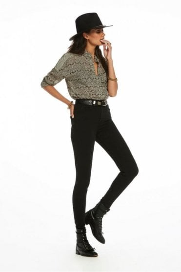Haut Stay Black High-Rise Skinny Fit