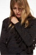 Maison Scotch Knitted Tassel Pullover