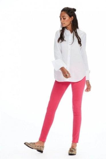 La Bohemienne – Sateen Trousers Mid Rise skinny fit