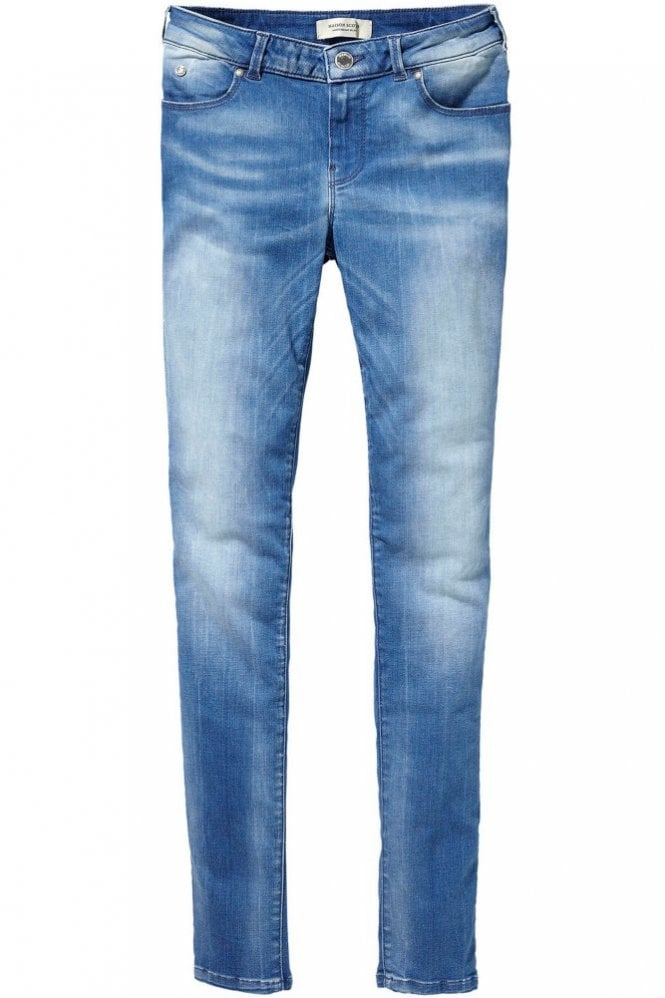 Maison Scotch Le Voyage Super Skinny Jean in Sogno Blue