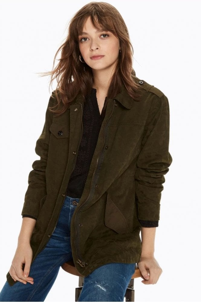 Maison Scotch Military Jacket in Military Green