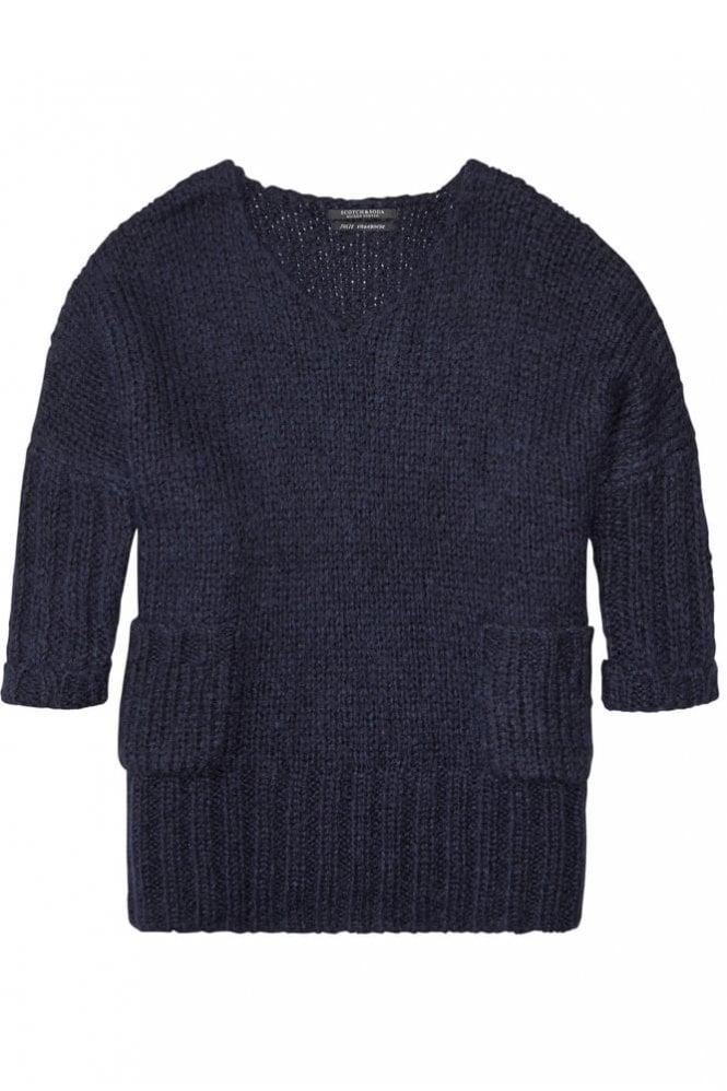 Maison Scotch Oversized V-Neck Pullover