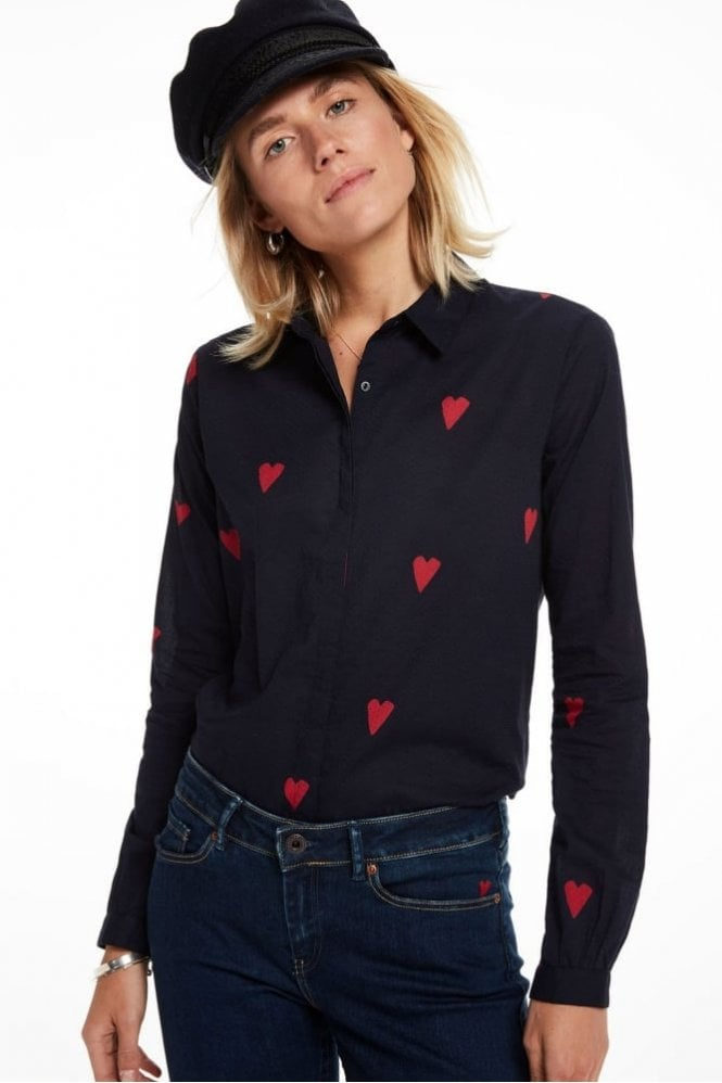 Maison Scotch Printed Shirt in Navy