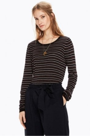 Striped Lurex Pullover
