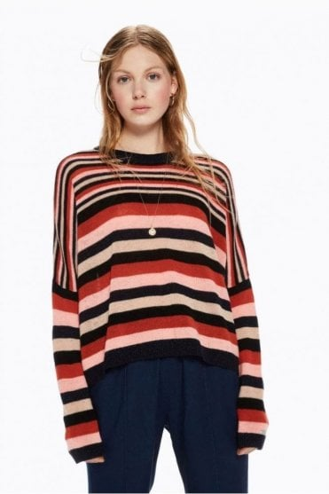 Striped Woollen Pullover in Combo A