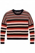Maison Scotch Striped Woollen Pullover in Combo A