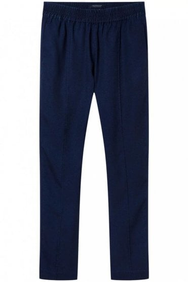 Tapered Tencel Pants in Indigo