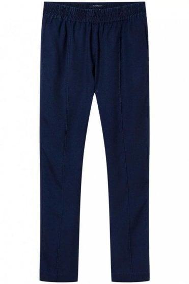 Tapered Tencel Pants in Indigo