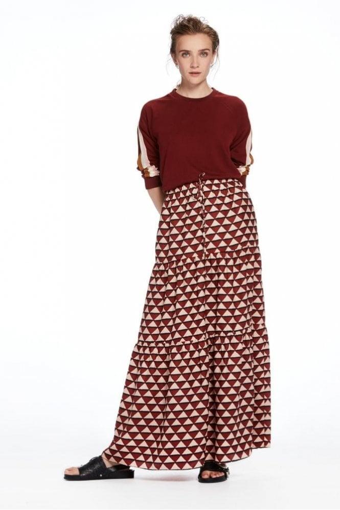 Maison Scotch Tiered Maxi Skirt