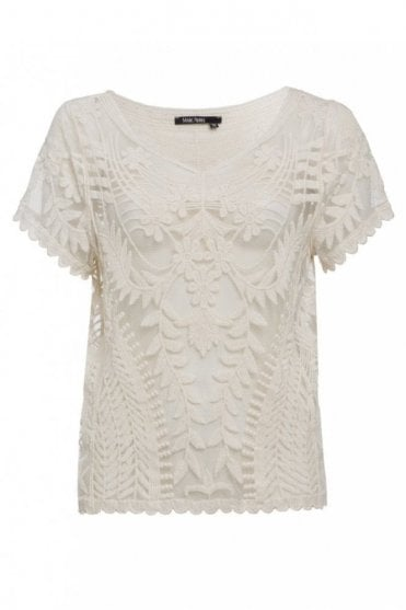 Lace Top in Shell