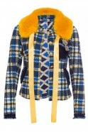 Marc Aurel Navy and Yellow Check Jacket
