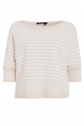 Sand Stripe Cotton Sweater