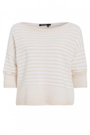 Sand Stripe Cotton Sweater