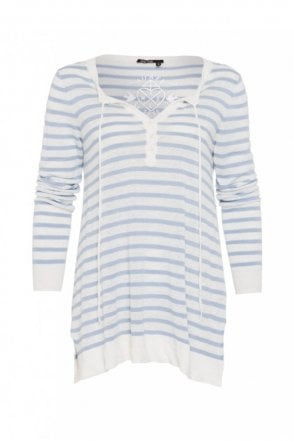 Stripe Linen Knitted Sweater