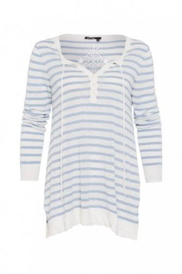 Stripe Linen Knitted Sweater