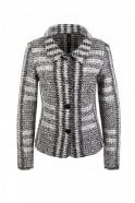 Marc Cain Black and White Jacket with Jacquard Pattern