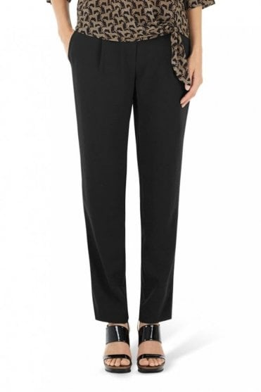 Crêpe Pants in Black