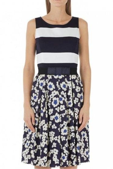 Floral/Stripe Print Dress