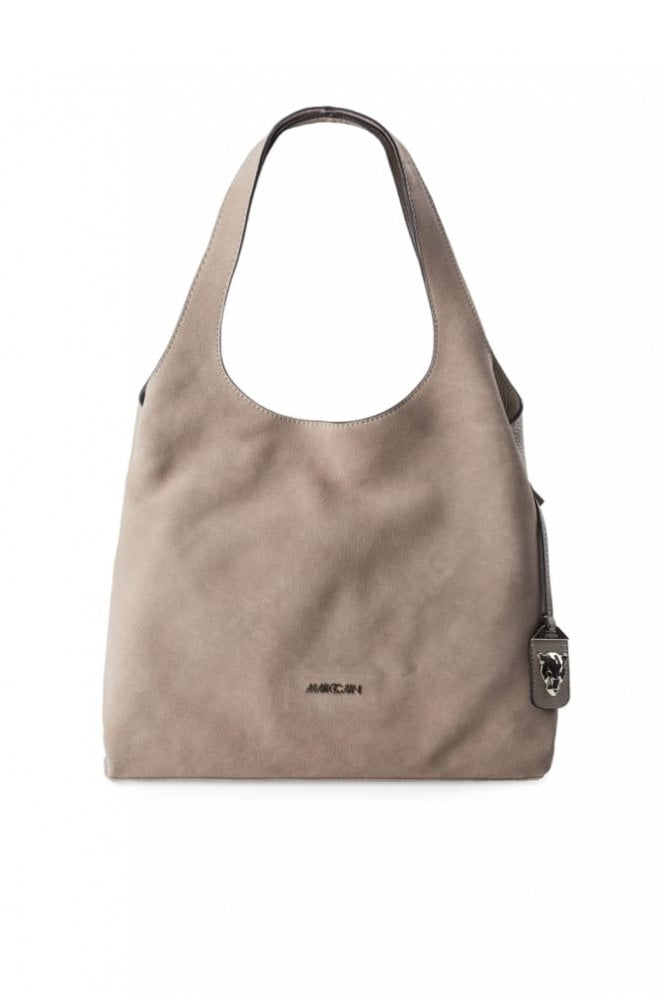 Marc Cain Hobo Bag in Suede Leather in Kangaroo