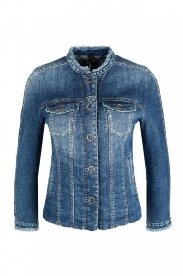 Jeans Jacket with Embroidered Patches