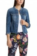 Marc Cain Jeans Jacket with Embroidered Patches