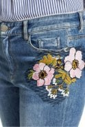 Marc Cain Jeans with Embroidery Patches