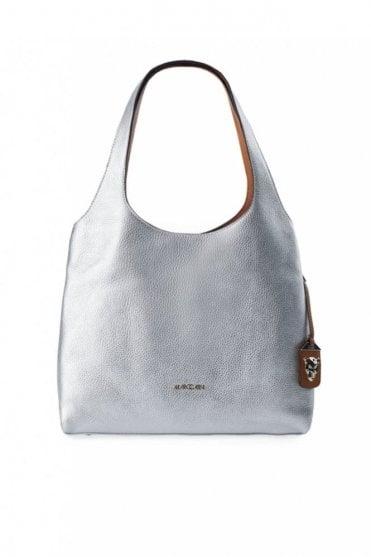 Metallic Effect Bucket Bag in Silver