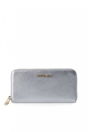 Metallic Effect Purse in Silver