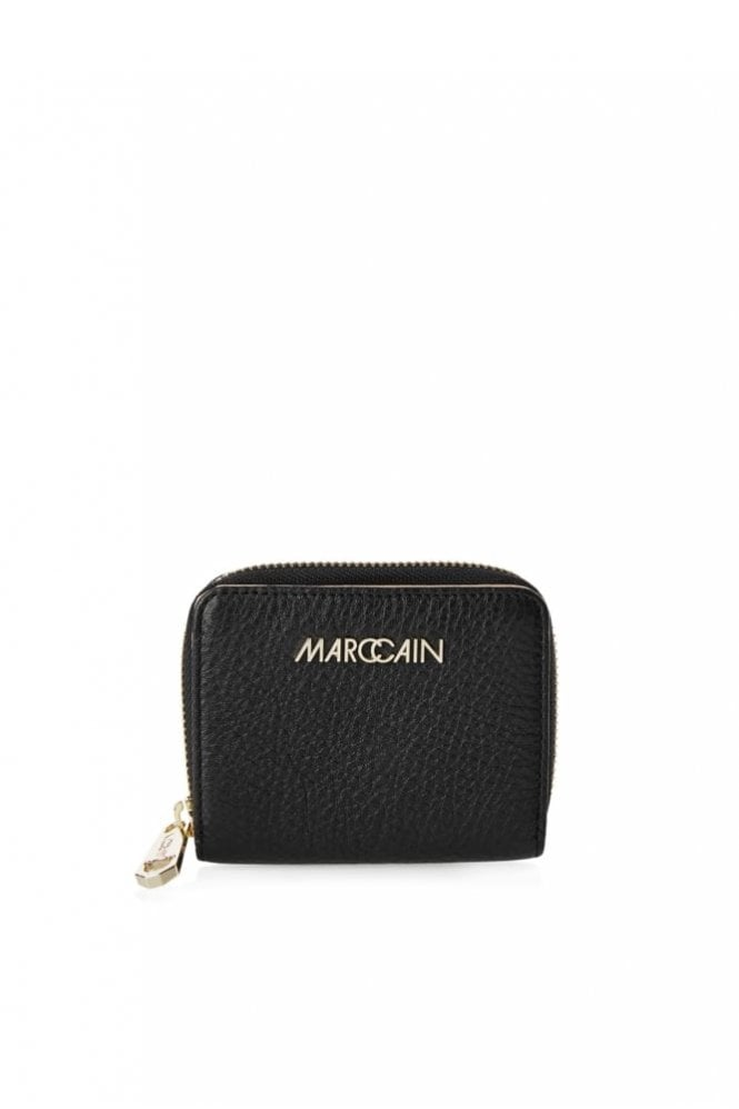 Marc Cain Mini Leather Purse in Black
