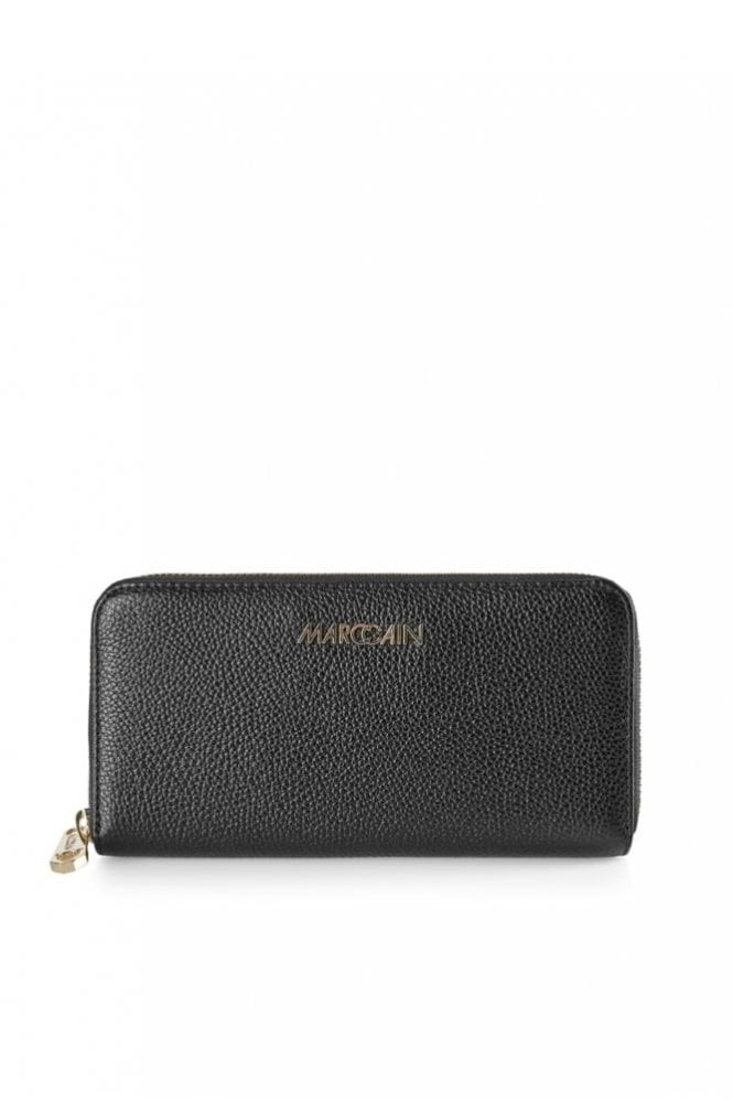 Marc Cain Purse Made From Calf Leather in Black