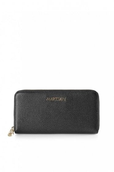 Purse Made From Calf Leather in Black