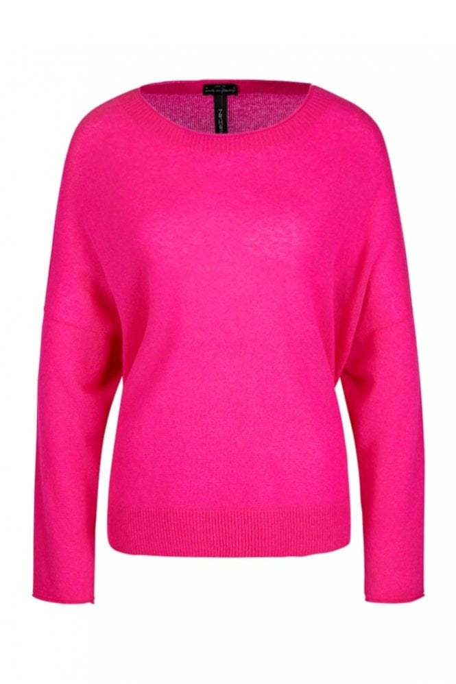 Marc Cain Scoop Neck Knit in Pop Pink