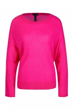 Scoop Neck Knit in Pop Pink