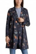 Marc Cain Stretchy Coat in Space Blue