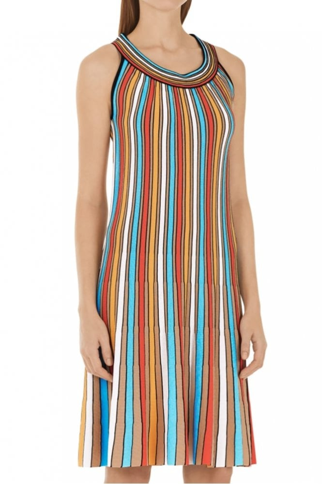 Marc Cain Stripe Dress in Multi