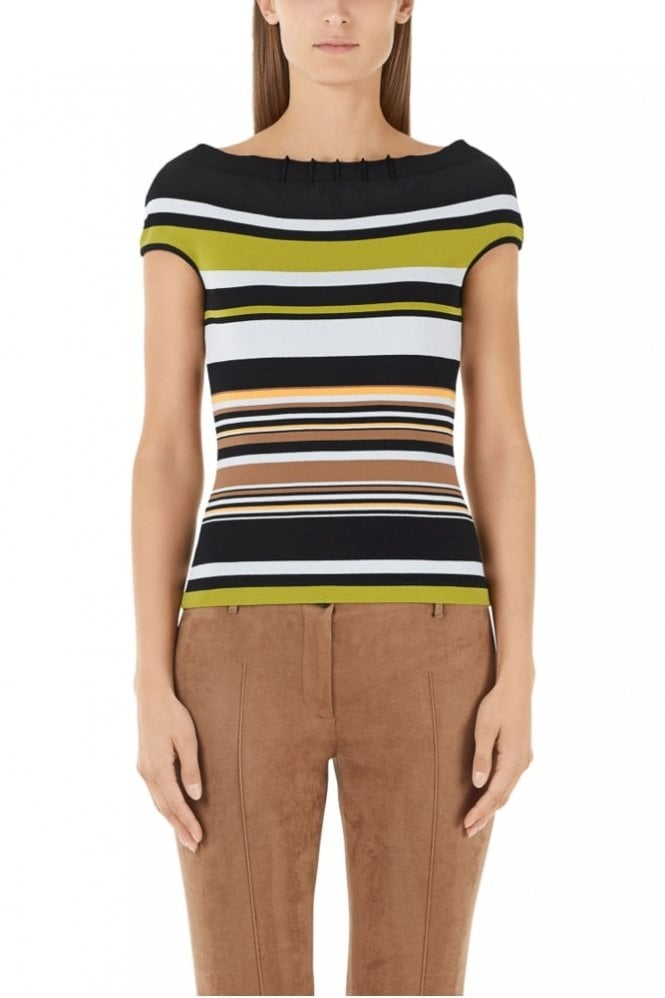 Marc Cain Stripe Top in Bamboo