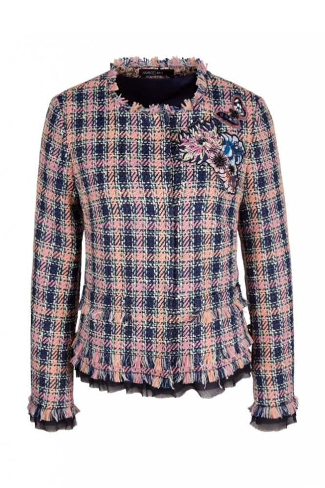 Marc Cain Summer Tweed Jacket in Blossom