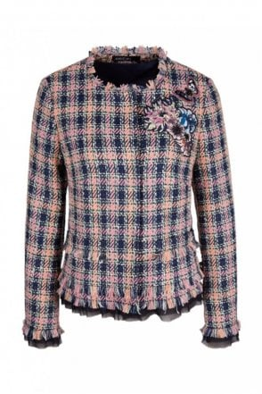Summer Tweed Jacket in Blossom