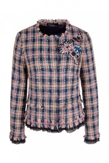 Summer Tweed Jacket in Blossom